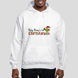 Baby Bump's 1st Christmas Owl Hooded Sweatshirt