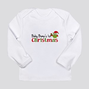 Baby Bump's 1st Christmas Owl Long Sleeve Infant T