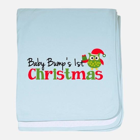 Baby Bump's 1st Christmas Owl baby blanket