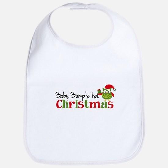 Baby Bump's 1st Christmas Owl Bib