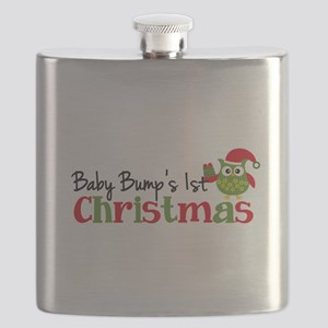 Baby Bump's 1st Christmas Owl Flask