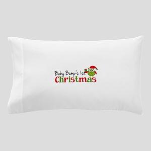 Baby Bump's 1st Christmas Owl Pillow Case
