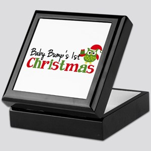 Baby Bump's 1st Christmas Owl Keepsake Box