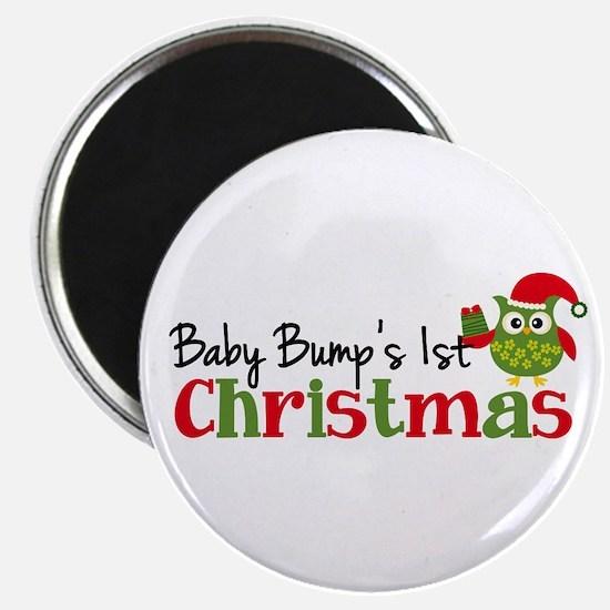 Baby Bump's 1st Christmas Owl Magnet
