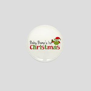 Baby Bump's 1st Christmas Owl Mini Button