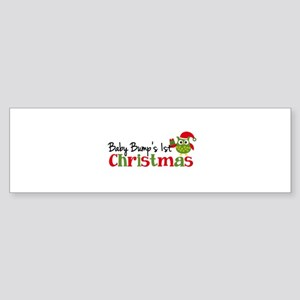 Baby Bump's 1st Christmas Owl Sticker (Bumper)