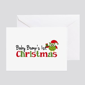 Christmas pregnancy greeting cards cafepress baby bumps 1st christmas owl greeting card m4hsunfo