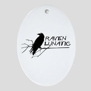 Raven Lunatic - Halloween Ornament (Oval)