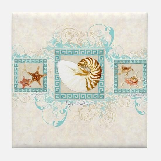 Cute Sea shell Tile Coaster