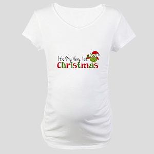 It's My Very 1st Christmas Owl Maternity T-Shirt