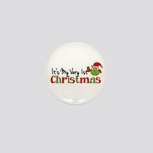 It's My Very 1st Christmas Owl Mini Button