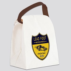 Lead Foot Hot Rod Canvas Lunch Bag