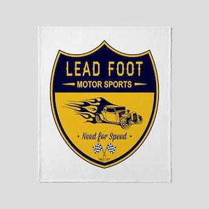 Lead Foot Hot Rod Throw Blanket