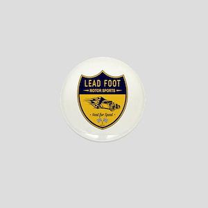 Lead Foot Hot Rod Mini Button