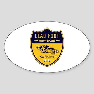Lead Foot Hot Rod Sticker (Oval)