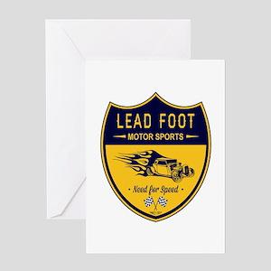 Lead Foot Hot Rod Greeting Card