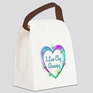 I Love Clog Dancing Canvas Lunch Bag