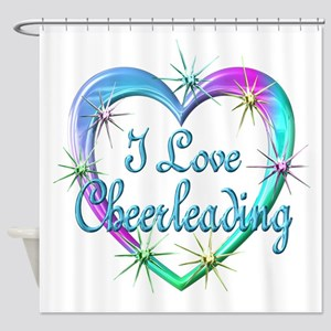 I Love Cheerleading Shower Curtain