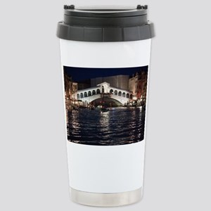 The Rialto Bridge at Night Stainless Steel Travel