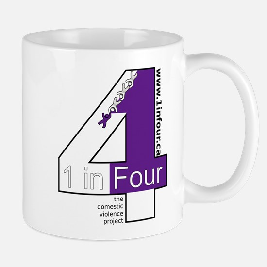 1 in Four the domestic violence project logo Mugs
