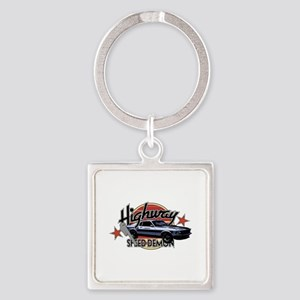 Mustang Muscle Car Square Keychain