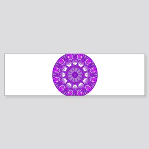 Violet Fire Wheel Sticker (Bumper)