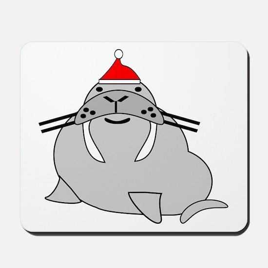 Christmas Walrus Mousepad