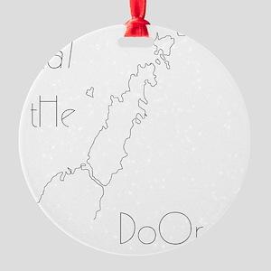Eat the Door Round Ornament