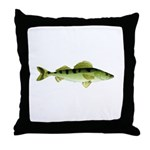 Zander pike perch Throw Pillow