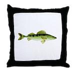 Zander pike perch Throw Pillow