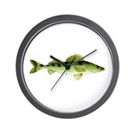 Zander pike perch Wall Clock