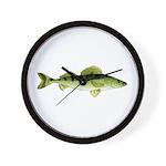 Zander pike perch Wall Clock
