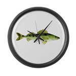 Zander pike perch Large Wall Clock
