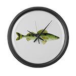 Zander pike perch Large Wall Clock