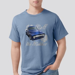 Classic Ford Blue Truck Roll the Rubber Tee T-Shir