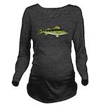 Zander pike perch c Long Sleeve Maternity T-Shirt