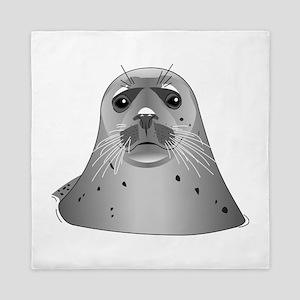 Grey Sea Lion Queen Duvet