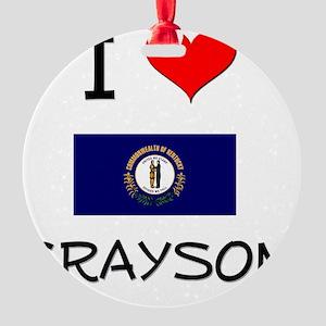 I Love GRAYSON Kentucky Round Ornament