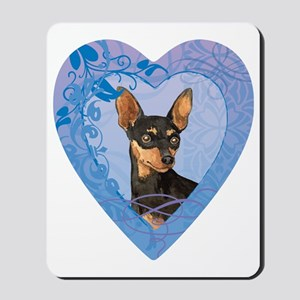 minpin-heart Mousepad