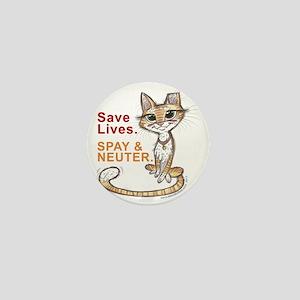 Save Lives Now Cat Mini Button