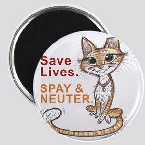 Save Lives Now Cat Magnet