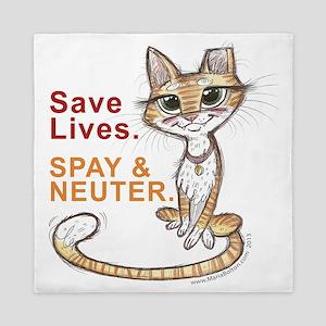 Save Lives Now Cat Queen Duvet