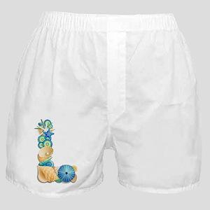 Beach Theme Initial L Boxer Shorts