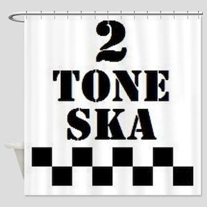 2 Tone Ska Shower Curtain
