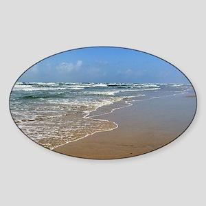 Beach Port Aransas Sticker (Oval)
