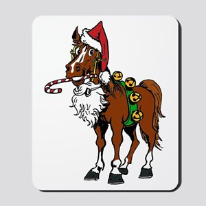 pony wearing santa hat Mousepad