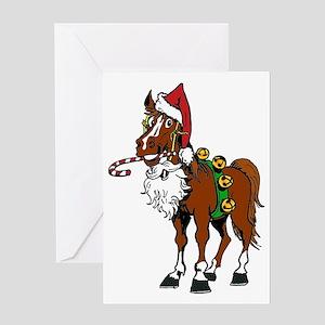 pony wearing santa hat Greeting Card