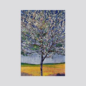 Cherry Tree in Bloom, painting by Rectangle Magnet