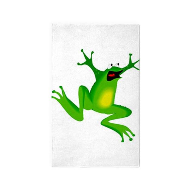 Jumping Frog Area Rug By Petdrawings
