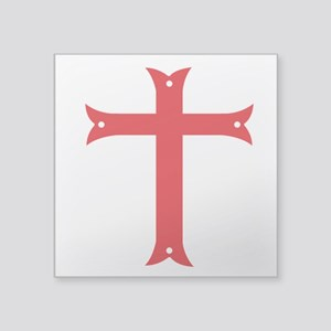 Knights Templar Square Sticker 3&Quot; X 3&Quot;